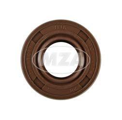 Wellendichtring NJK 14x28x07 - FPM - braun - mit Staublippe