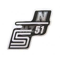 Klebefolie Seitendeckel -N- silber, S51