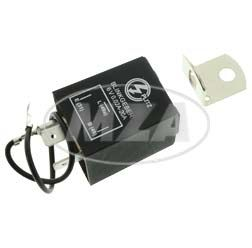 Elektronischer Blinkgeber 6V - PLITZ - 3-poliger Anschluß (31, 49, 49a) - 0,02-20 A - entspricht 0,24-240 W - universell einsetzbar - mit Haltewinkel + Massekabel