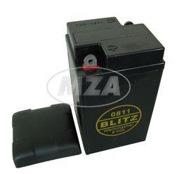 Batterie 6V 12 Ah - pass. für AWO425, RT125 - mit Deckel - BLEI-GEL, wartungsfrei, geschlossen - Typ: 0811 - Größe: 9,5x8,7x16,7cm