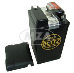 Batterie 6V 12 Ah - pass. für AWO425, RT125 - mit Deckel (Füllmenge 150ml pro Kammer, Bleiakku) - Typ: 01211 - Größe: 9,5x8,7x16,7 cm