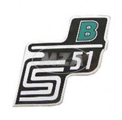 Klebefolie Seitendeckel -B- grün, S51