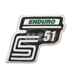 Klebefolie Seitendeckel -Enduro- grün, S51