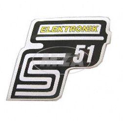 Klebefolie Seitendeckel -Elektronik- gelb, S51