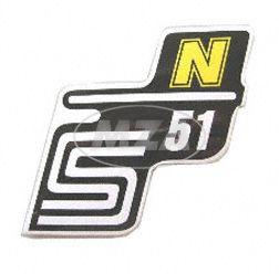 Klebefolie Seitendeckel -N- gelb, S51