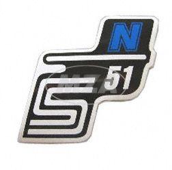 Klebefolie Seitendeckel -N- blau, S51