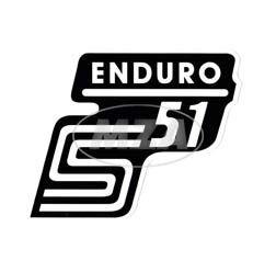 Klebefolie Seitendeckel -Enduro- weiß, S51