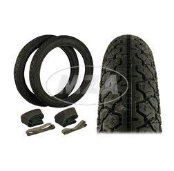 SET Reifen - 2 Stück  2 3/4 - 16  K36/1   46 J - inkl. Schläuche und Felgenbänder