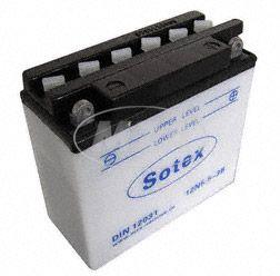 SOTEX-Batterie - 12N5,5-3B - 12V 5,5 Ah - für Motorrad ETZ125, 150, 250, 251/301