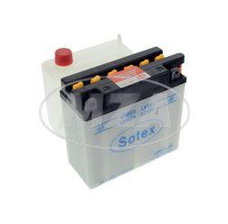 SOTEX-Batterie - 12N5,5-3B - 12V 5,5 Ah - inkl. Batteriesäure im Einzelkarton - z.B. für S51, S53, ETZ, Motorrad