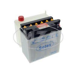 SOTEX-Batterie - 12N9-4B-1 - 12V 9,0 Ah - inkl. Batteriesäure im Einzelkarton - z.B. für Motorrad ETZ250, 251/301