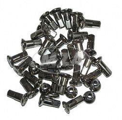 Set Speichennippel M4 - Länge ca. 16 mm - 36 Stück - verchromt - z.B. für RT125, ES, TS, ETZ, BK