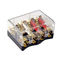 Sicherungsdose 8811.14/1 - mit Deckel, klar - für ETZ125, ETZ150, ETZ250 - 4x Steckplätze f. Sicherungen, 8x Anschlüsse