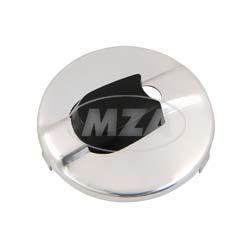 Abdeckung für Zündlichtschalter, rund, Aluminium chromeffekt - 8626.1/6-1 - für TS125, TS150, TS250/1