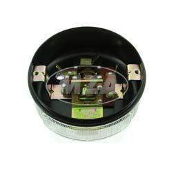 Rücklichtunterteil mit Lichtaustritt f. Kennzeichen - (Metallgehäuse) - BSKL (8522.11) ø 100 mm - ohne Leuchtmittel und Kleinteile - S70, passend f. MZ  TS