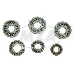 Kugellager SET (6-teilig)   Motor - MM 125/2, 150/2  - ES,ETS125/1, ES,ETS150/1  (SKF-MARKENLAGER - 3x 6303 C4 / 1x 6202 C3 / 1x 6004 C3 / 1x 6201 C3)