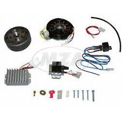 Lichtmagnetzündanlage 12V 150W mit integrierter vollelektronischer Zündung für TS250, 4-Gang + TS250/1, 5-Gang
