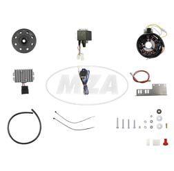 Lichtmagnetzündanlage 6V 100W mit integrierter vollelektronischer Zündung, passend f. JAWA 11/353/355/356/559/590 +CZ 450/455/470/475/477/482/485/487