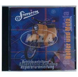 CD - Roller und Mofa - Originaldokumente (Reparaturanleitungen, Ersatzteilkataloge, Betriebsanleitungen)