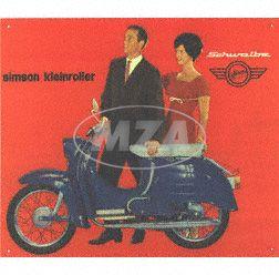 """Blechschild """"""""Kleinroller Schwalbe"""""""" - Abmessungen ca. 38 cm x 34 cm"""