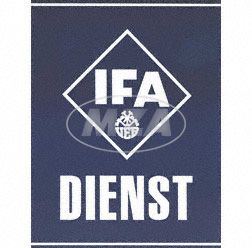 Blechschild - IFA DIENST - Abmessungen ca. 38cm x 34cm