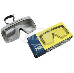 Motorradschutzbrille - Original DDR-Sportschutzbrille -  MARKE: SPORTURA - mit Sonnenblende