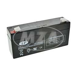 AGM-Batterie - Vlies - wartungsfrei - 6V 3,2 Ah