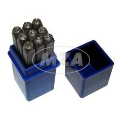 SET Schlagzahlen - Ziffernhöhe: 3,0mm - Schriftcharakter nach DIN1451
